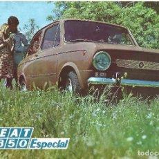 Coches y Motocicletas: COCHE SEAT 850 ESPECIAL FOLLETO DE CONCESIONARIO. Lote 92291485