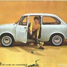 Coches y Motocicletas: COCHE SEAT 850 FOLLETO CATALOGO FICHA TECNICA 1968 CONCESIONARIO. Lote 92318590