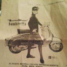Coches y Motocicletas: PROPAGANDA DE LAMBRETTA AÑOS 1950S 1960S. Lote 92749925