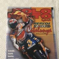 Coches y Motocicletas: CATÁLOGO SOLO MOTO JUNIO 1999. Lote 92819567