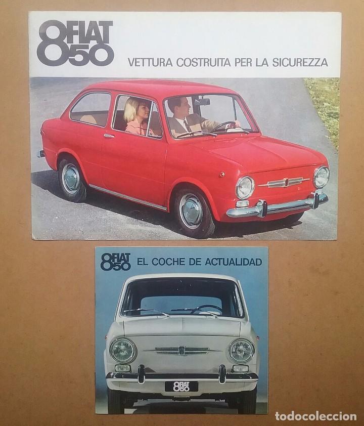 FIAT 850 CATÁLOGO PUBLICIDAD AUTOMÓVIL AUTO COCHE AÑOS'60 (Coches y Motocicletas Antiguas y Clásicas - Catálogos, Publicidad y Libros de mecánica)