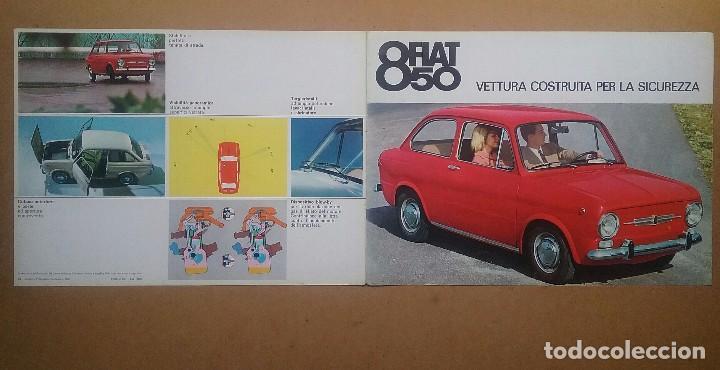 Coches y Motocicletas: FIAT 850 CATÁLOGO PUBLICIDAD AUTOMÓVIL AUTO COCHE AÑOS'60 - Foto 2 - 92908585
