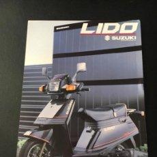 Coches y Motocicletas: FOLLETO CATALOGO PUBLICIDAD ORIGINAL SUZUKI LIDO . Lote 93265605