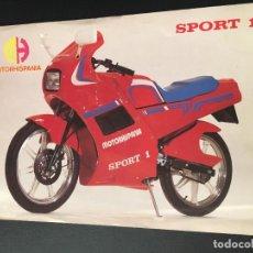 Voitures et Motocyclettes: FOLLETO CATALOGO PUBLICIDAD ORIGINAL MOTORHISPANIA SPORT 1. Lote 93266125
