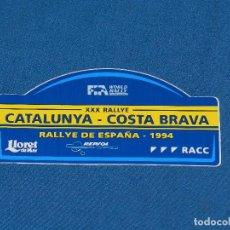 Coches y Motocicletas: (ALB1) PEGATINA XXX RALLYE CATALUNYA COSTA BRAVA 1994 , RACC , BUEN ESTADO. Lote 93377285