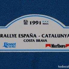 Coches y Motocicletas: (ALB1) PEGATINA RALLYE CATALUNYA COSTA BRAVA 1991 , RACC , BUEN ESTADO. Lote 93377340