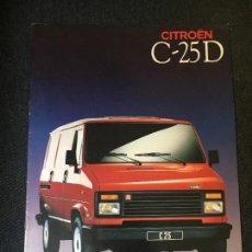 Coches y Motocicletas: FOLLETO CATALOGO PUBLICIDAD ORIGINAL CITROEN C-25 D 1989 CITROËN. Lote 94027745