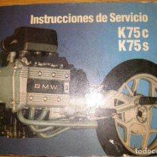 Coches y Motocicletas: CATALOGO INSTRUCCIONES DE SERVICIO MOTO KT5C , KT5S BMW 1985 . Lote 94114590