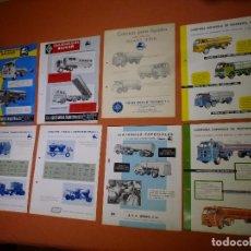 Coches y Motocicletas: LOTE 8 CATÁLOGOS CAMIONES PEGASO- CARROCERÍAS SOBRE VEHÍCULOS PEGASO- . Lote 94172055