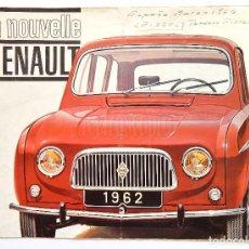 Coches y Motocicletas: CATÁLOGO DESPLEGABLE PUBLICIDAD LA NOUVELLE RENAULT 3L 4L AÑO 1962 EN FRANCÉS. Lote 94241250