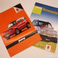 Coches y Motocicletas: 2 CATALOGOS SUZUKI JIMNY 12 PAGINAS 2006 + ACEESORIOS 16 PAGINAS 2007 + PRESUPUESTO. Lote 94402566