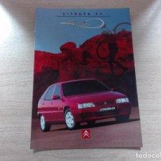 Coches y Motocicletas: CITROËN ZX TONIC - CATÁLOGO COCHE - ESPAÑOL. Lote 110719604