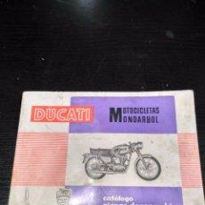 Coches y Motocicletas: CATÁLOGO PIEZAS DE RECAMBIO DUCATI MOTICICLETA MONOARBOL.. Lote 94961943