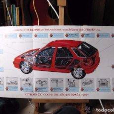 Coches y Motocicletas: DESPLEGABLE CITROEN ZX COCHE DEL AÑO 1992. Lote 95033967