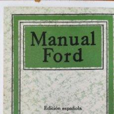 Coches y Motocicletas: MANUAL FORD. EDICIÓN ESPAÑOLA.. Lote 95045595