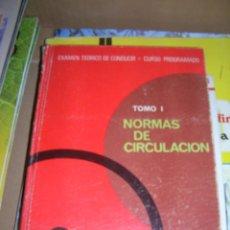 Coches y Motocicletas: EXAMEN TEÓRICO DE CONDUCIR. TOMO I, NORMAS DE CIRCULACIÓN. TOMO II, SEÑALES DE TRÁFICO. 1969.. Lote 95707787