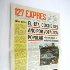 Coches y Motocicletas: ESPECIAL EXPRES SEAT 127 AÑO 1972 - GRAN POSTER GIGANTE - LA GAMA SEAT 1973. Lote 95889271
