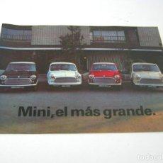 Coches y Motocicletas: CATALOGO MINI EL MAS GRANDE AÑOS 70 . ESPAÑOL . MUY RARO ¡¡ PERFECTO ¡¡. Lote 95897743