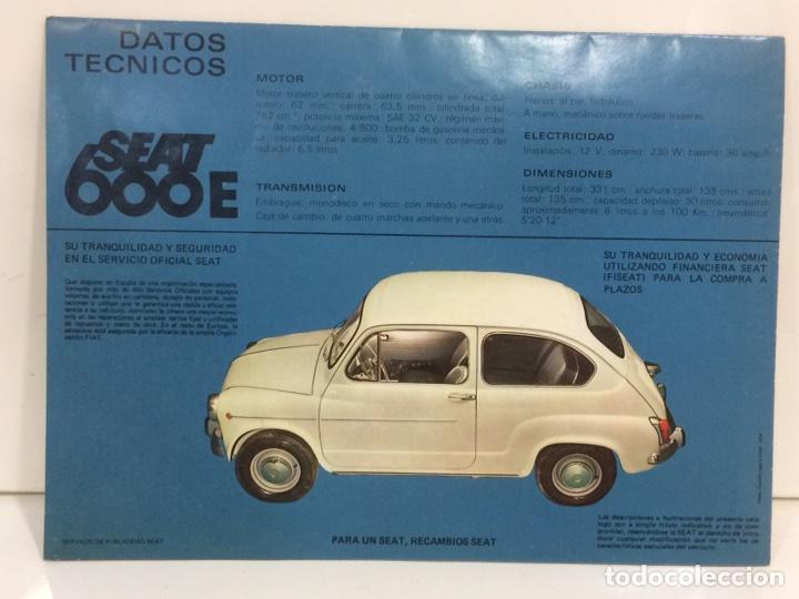 Coches y Motocicletas: Póster y factura o presupuesto de Seat 600 - Foto 5 - 96317882