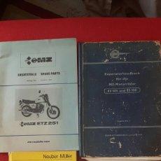 Coches y Motocicletas: LIBROS REPARACION Y DESPIECE MOTORRADER MZ. Lote 96360878