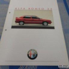 Coches y Motocicletas: CATALOGO ALFA ROMEO 33. Lote 96373551