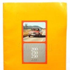 Coches y Motocicletas: CATÁLOGO PUBLICIDAD DE MERCEDES BENZ 200, 230, 250.. Lote 96586483