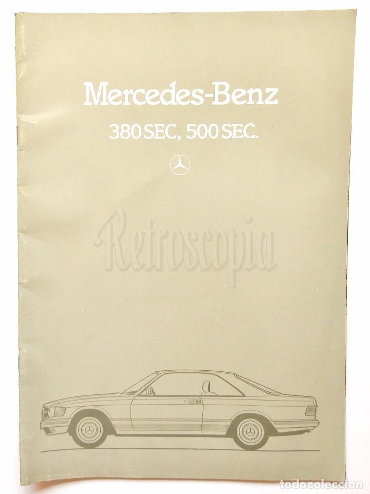 CATÁLOGO PUBLICIDAD DE MERCEDES BENZ 380 SEC, 500 SEC. EN INGLÉS (Coches y Motocicletas Antiguas y Clásicas - Catálogos, Publicidad y Libros de mecánica)