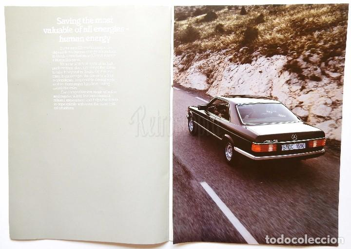 Coches y Motocicletas: CATÁLOGO PUBLICIDAD DE MERCEDES BENZ 380 SEC, 500 SEC. EN INGLÉS - Foto 4 - 206757477
