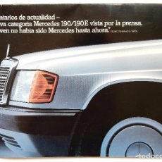 Coches y Motocicletas: CATÁLOGO PUBLICIDAD DE MERCEDES BENZ 190, 190 E. Lote 96587767