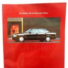 Coches y Motocicletas: CATÁLOGO PUBLICIDAD DE MERCEDES BENZ EL MODELO 190. Lote 96588291