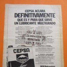 Coches y Motocicletas: PUBLICIDAD 1973 - COLECCION COCHES - ACEITE CEPSA. Lote 97199887