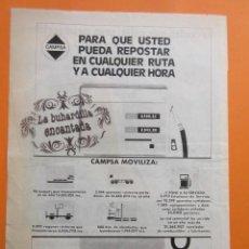 Coches y Motocicletas: PUBLICIDAD 1972 - COLECCION COCHES - CAMPSA PARA RESPOSTAR. Lote 97200175