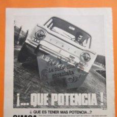 Coches y Motocicletas: PUBLICIDAD 1967 - COLECCION COCHES - SIMCA CHRYSLER BARREIROS. Lote 97200747