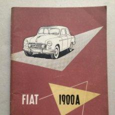 Coches y Motocicletas: FIAT 1900A, SU EMPLEO Y CUIDADOS (1955). Lote 97349939
