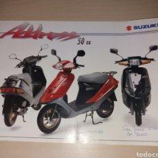 Coches y Motocicletas: ANTIGUO CATÁLOGO CICLOMOTORES SUZUKI . Lote 97440978