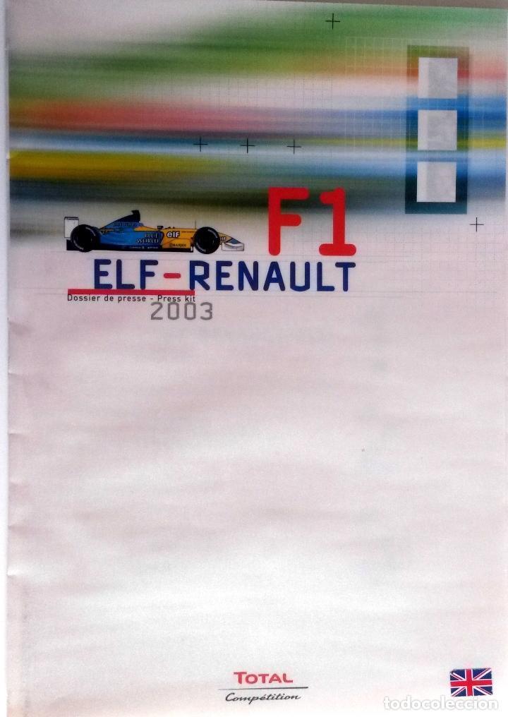 DOSSIER PRENSA ELF-RENAULT F1 + CD. ORIGINAL. (Coches y Motocicletas Antiguas y Clásicas - Catálogos, Publicidad y Libros de mecánica)