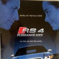 Coches y Motocicletas: DOSSIER PRENSA AUDI RS 4 - JACKY ET VANINA ICKX. AÑO 2005. CD. ORIGINAL.. Lote 97761583