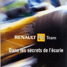 Coches y Motocicletas: DVD - RENAULT F1 TEAM. DANS LES SECRETS DE L'ÉCURIE -. AUTO HEBDO. ORIGINAL.. Lote 97763863