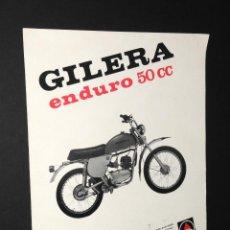 Coches y Motocicletas: FOLLETO - PUBLICIDAD - CICLOMOTOR GILERA - ENDURO 50CC - MOTOVESPA. Lote 97782019