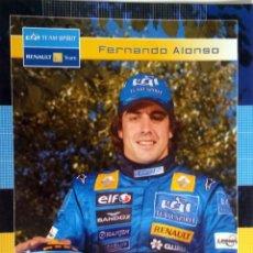 Coches y Motocicletas: POSTAL OFICIAL FERNANDO ALONSO - RENAULT F1 TEAM. ORIGINAL.. Lote 97916743