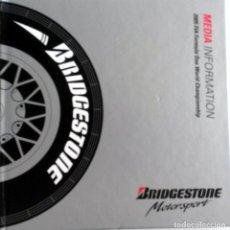 Coches y Motocicletas: DOSSIER DE PRENSA BRIDGESTONE F1. ORIGINAL. 2005.. Lote 97919571