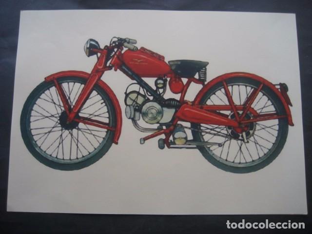 CARTEL MOTOS. MOTO GUZZI HISPANIA (Coches y Motocicletas Antiguas y Clásicas - Catálogos, Publicidad y Libros de mecánica)