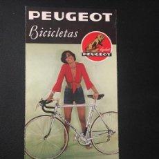 Coches y Motocicletas: FOLLETO CATALOGO PUBLICIDAD ORIGINAL PEUGEOT BICICLETAS 1976. Lote 98213747