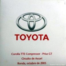 Coches y Motocicletas: CD ORIGINAL- DOSSIER DE PRENSA. TOYOTA COROLLA TTE COMPRESSOR - PRIUS GT. - 2005. . Lote 98387251