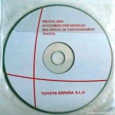Coches y Motocicletas: CD ORIGINAL- DOSSIER DE PRENSA. TOYOTA ACCESORIOS POR MODELOS - 2004. . Lote 98388035