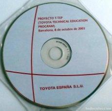 Coches y Motocicletas: CD ORIGINAL- DOSSIER DE PRENSA. TOYOTA PROYECTO T-TEP - 2003.. Lote 98388755