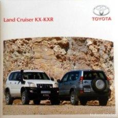 Coches y Motocicletas: CD ORIGINAL- DOSSIER DE PRENSA. TOYOTA LAND CRUISER KX/KXR.. Lote 98390339