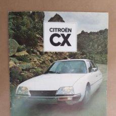 Coches y Motocicletas: CATÁLOGO CITROËN CX 1978. Lote 98497287
