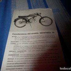Coches y Motocicletas: CATALOGO MONTESA 50. Lote 98504439