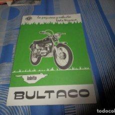 Coches y Motocicletas: CATALOGO BULTACO LOBITO. Lote 98504899